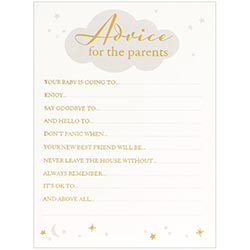 Babyshower advice card