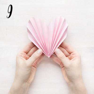 Vika ett veckat hjärta - Steg 9